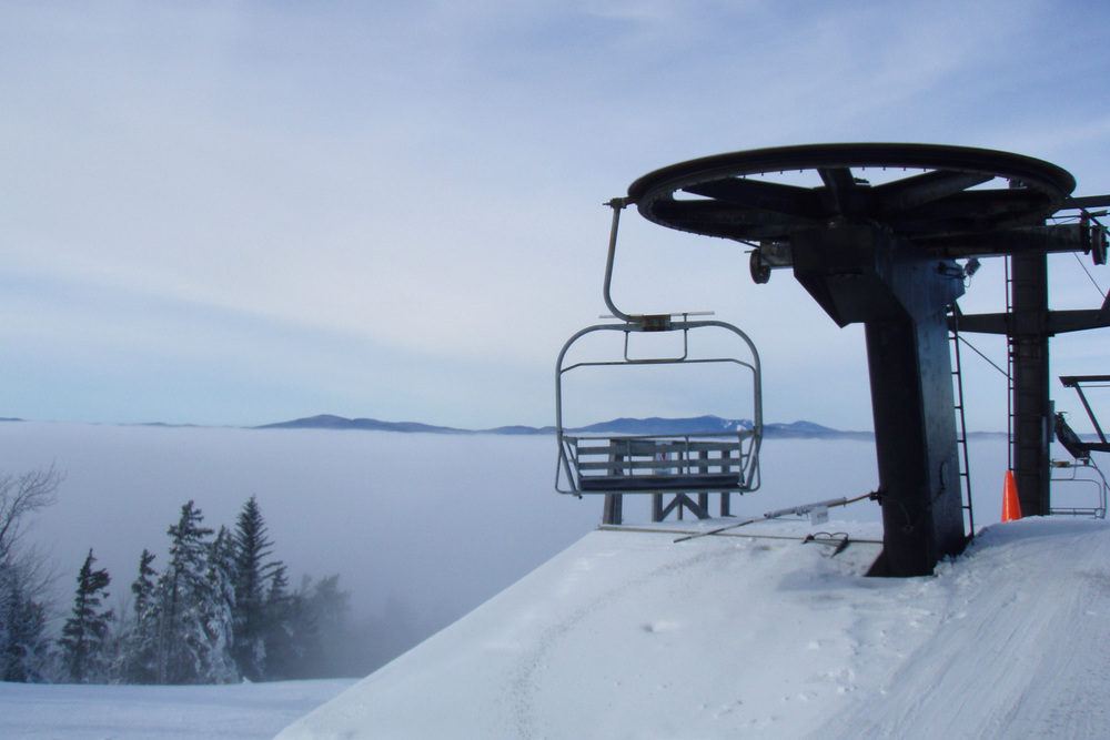 Top station on the main triple chair 2008