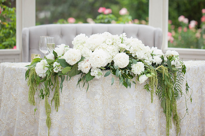Sweetheart Table: Our  French Gold Beaded Linen