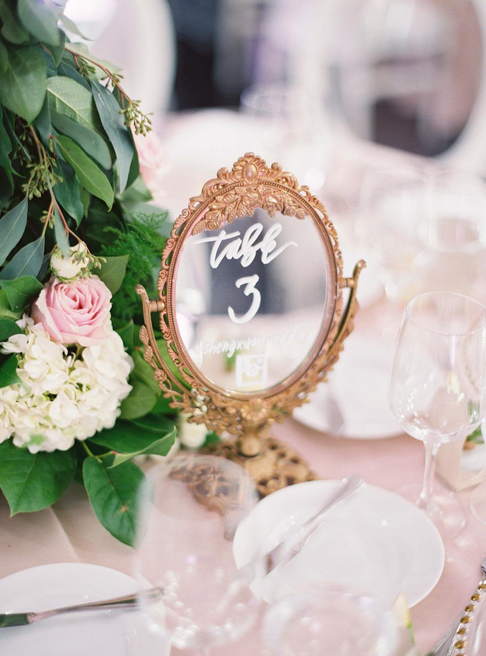 Bella Vanity Table Number Mirrors