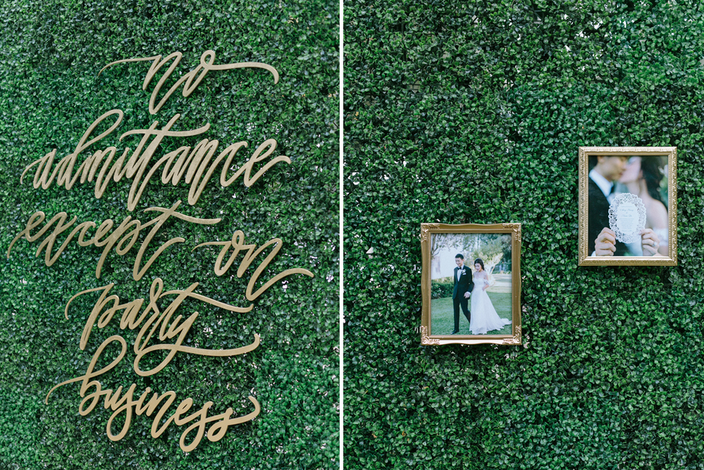 Laser-cut Calligraphy by Letters to You and our Claire frames.