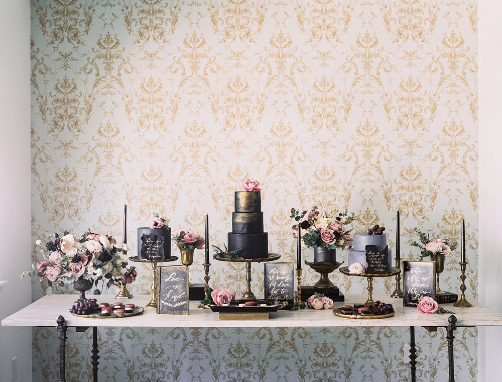 Florentine Dessert Table Inspiration by Vivian K