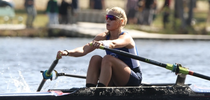 Alexa Rowing on the Charles River.