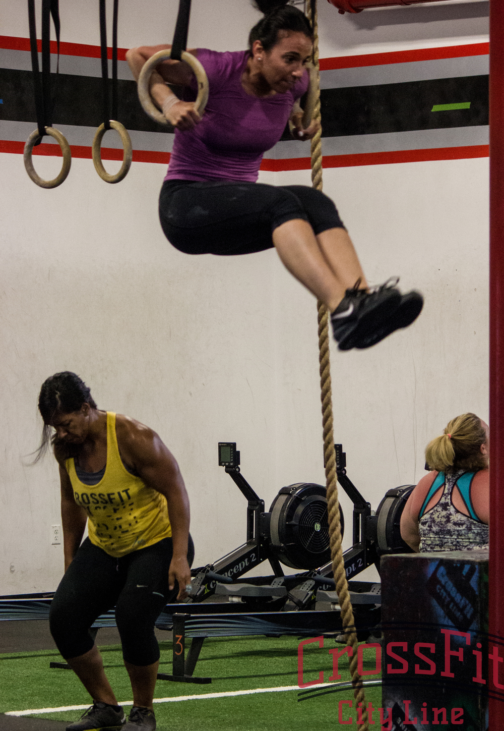Gabby and amy rep out muscle ups