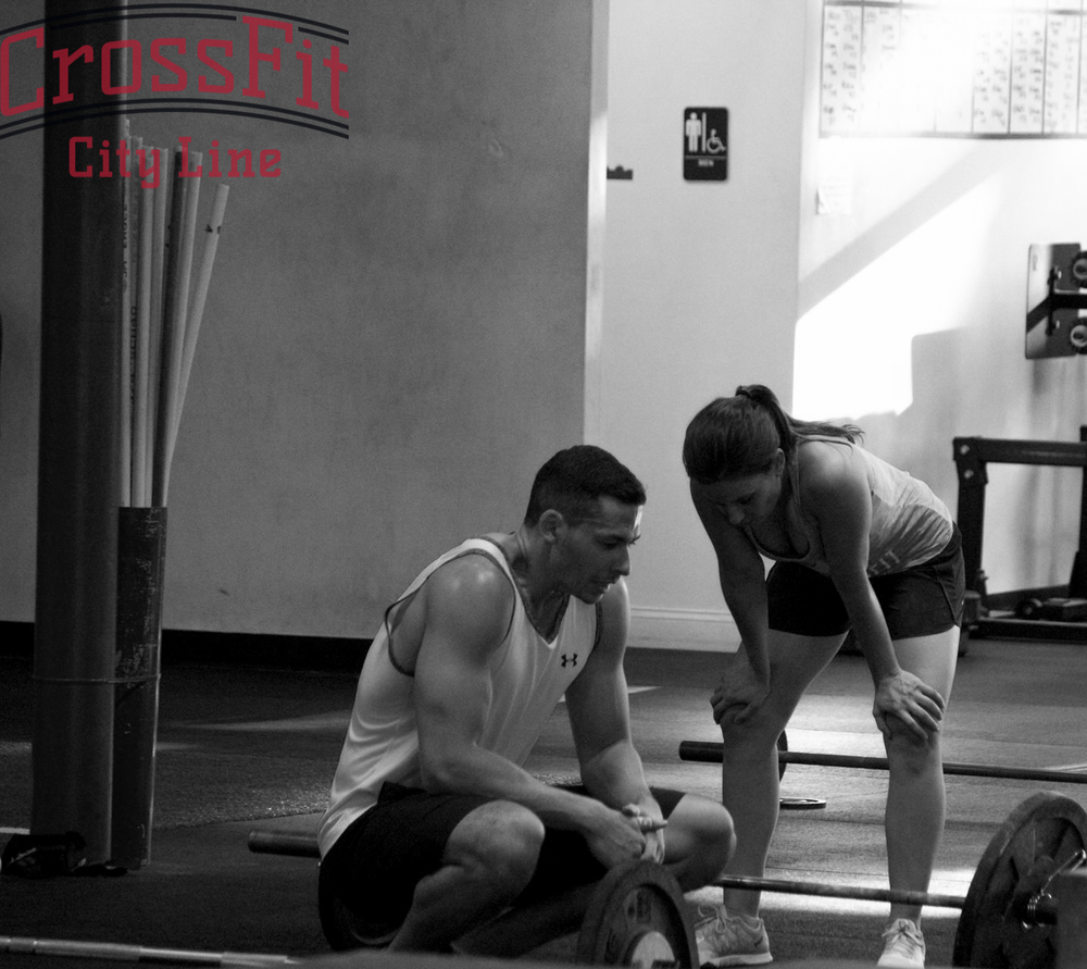 Recovering from the WOD? Or plotting revenge on their barbells?