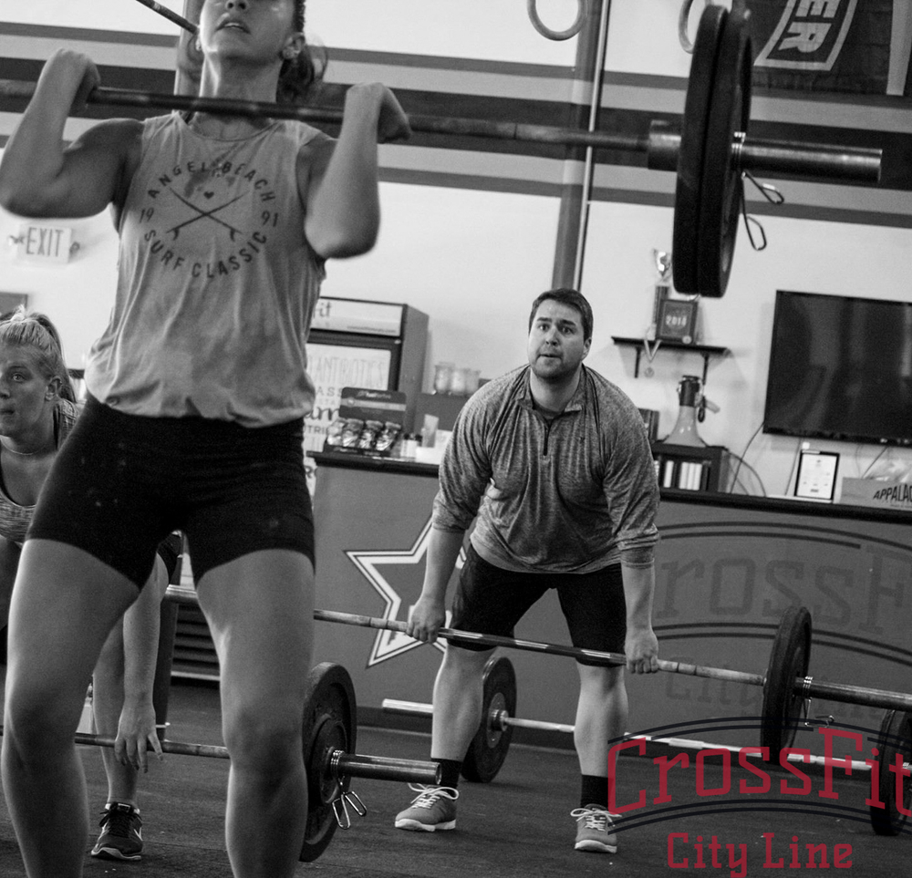 Paige. Julia. Geoff. Power Cleans.