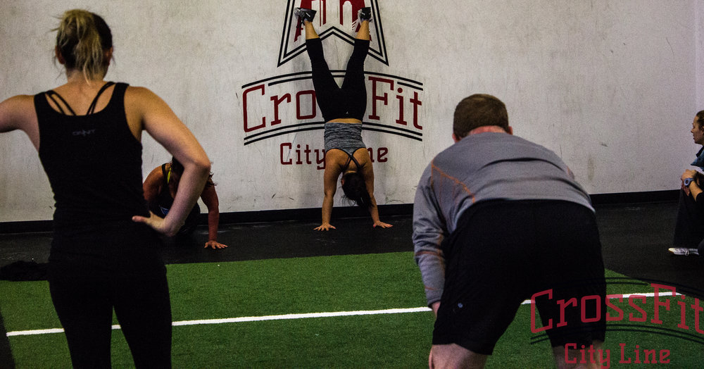 The wall climb creates a great foundation for handstands and handstand push-ups