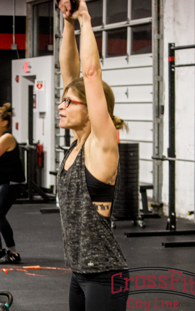 Amy crushing kettlebell swings