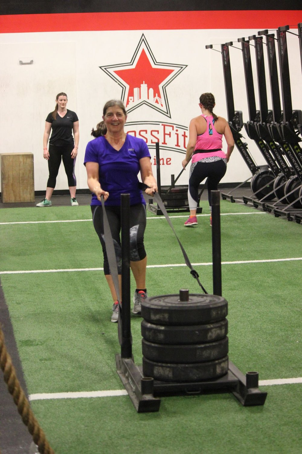 No stack of plates is too heavy to keep Marianne down!