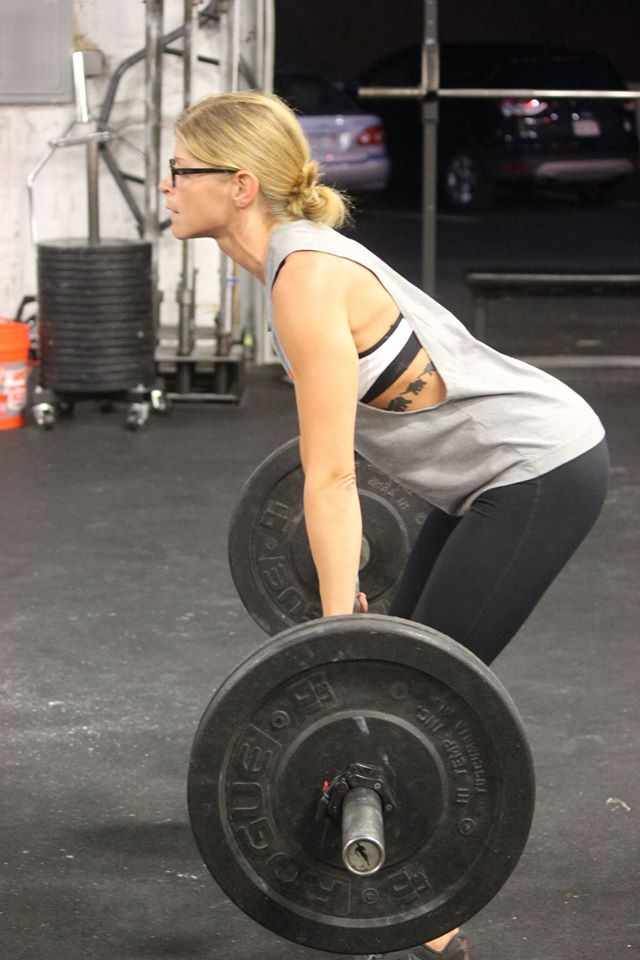 Amy pushing hard during Barbell Bettys