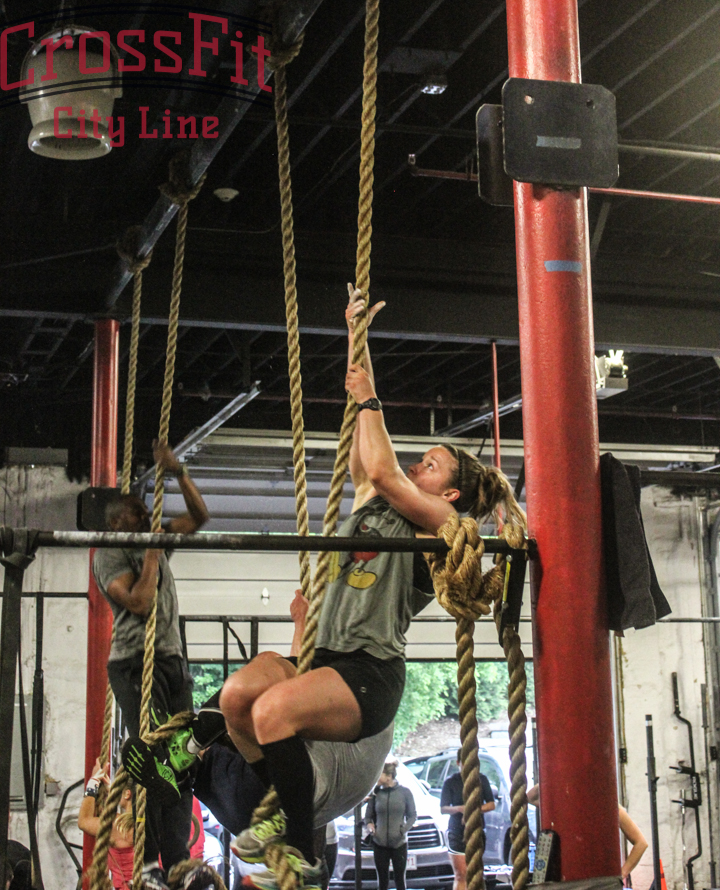 Just 1 of many rope climbs on 'Glen'