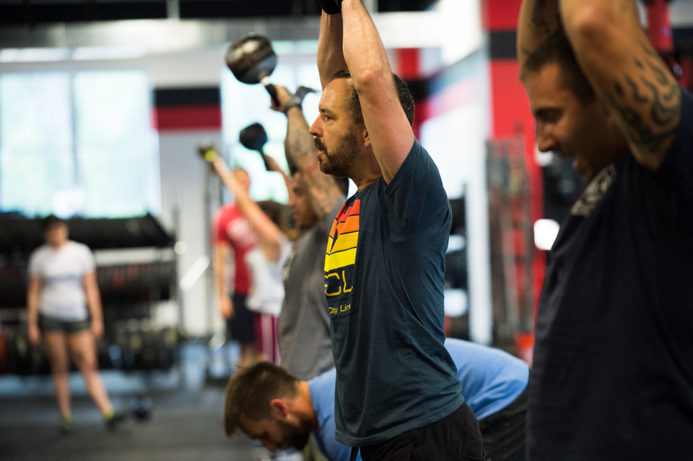 Breathe at the top of the kettlebell swing.