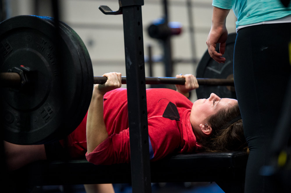 Life is like a bench press: to be successful, you have to push back.