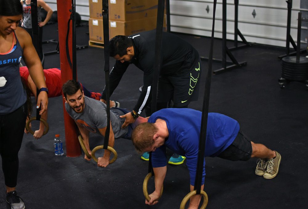 """""""The inherent instability of the rings will add a ton of difficulty, and all the muscles in your shoulders, chest, and arms will have to fire in order to stabilize the rings."""" -Ring It In: Build Better Strength"""