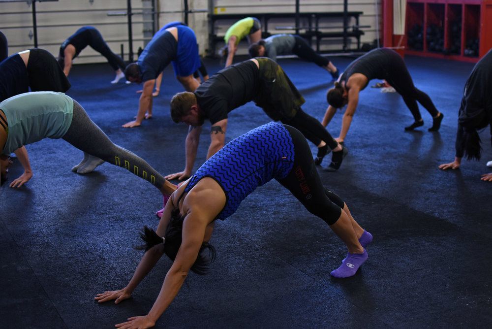 Our handstand clinic in January started with a lot of shoulder activation and mobility.