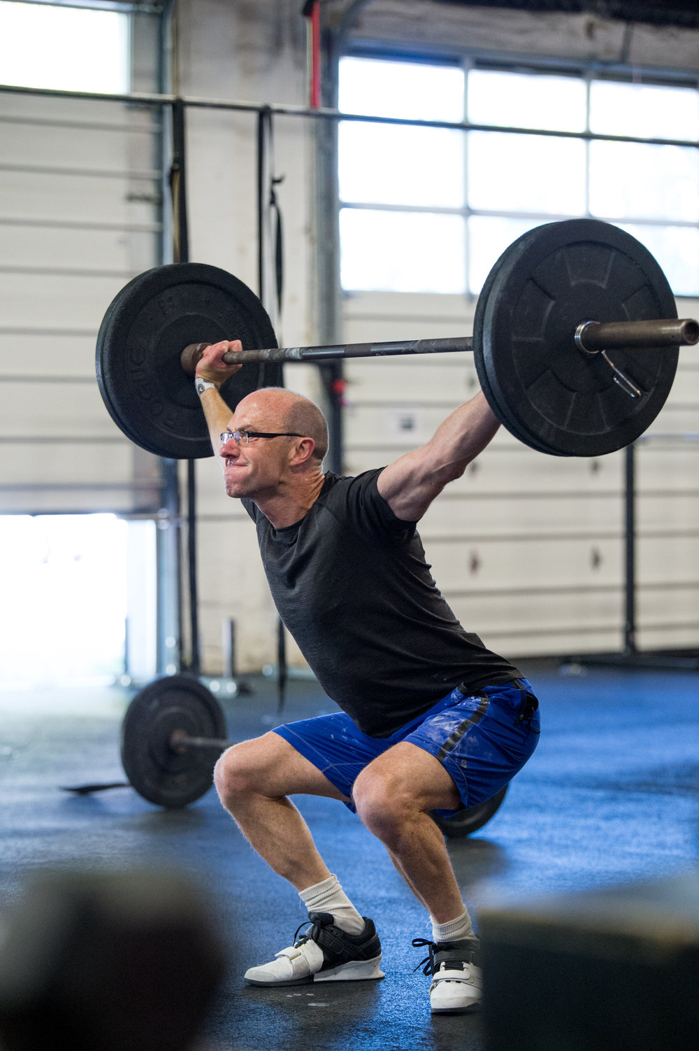 Paul is the picture of dedicated practice in attacking his weaknesses. His overhead squat gets better and better.