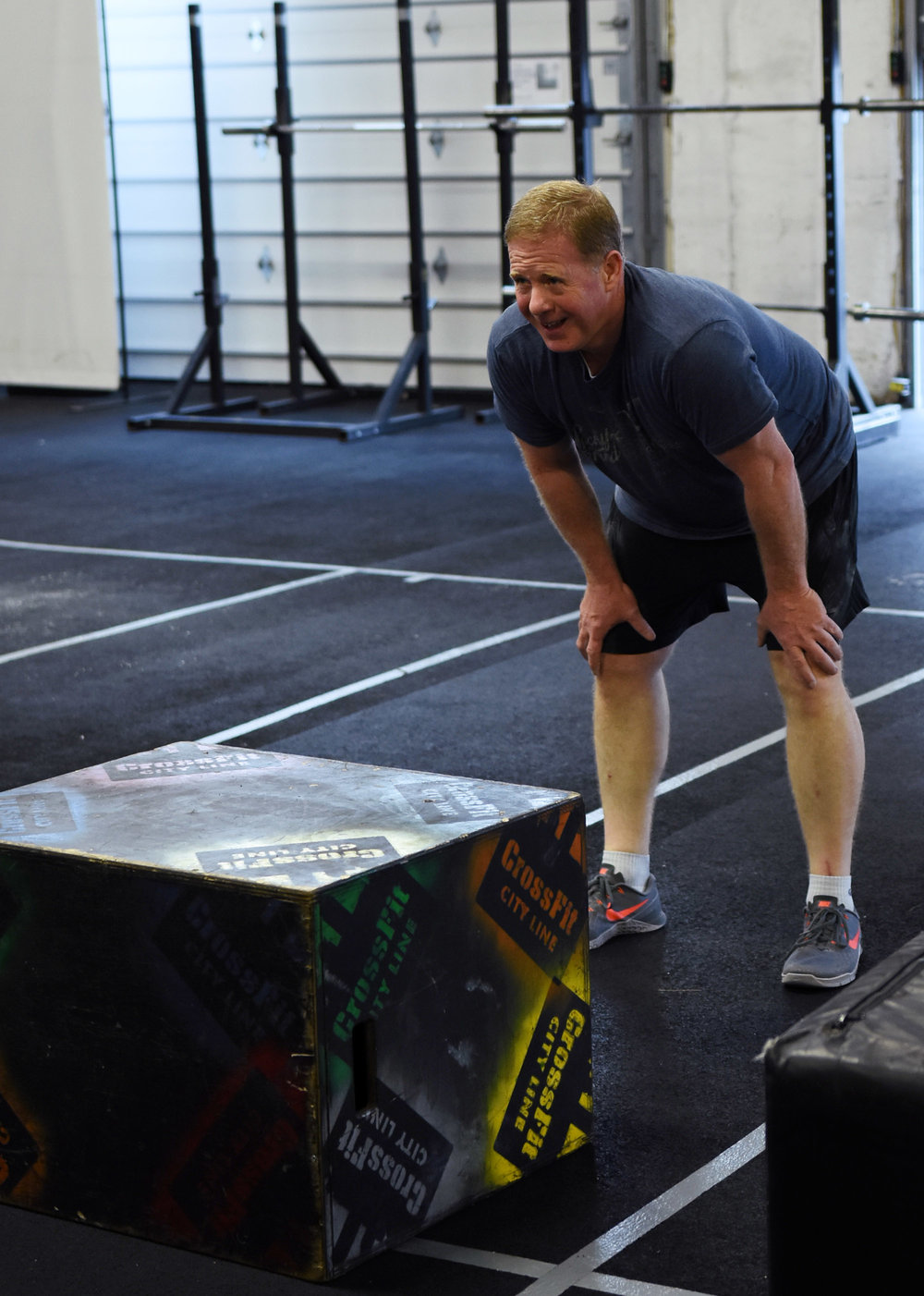 Box jumps train our explosive hip extension--to get the most out of a box jump workout, send your hips back while standing behind the box, like in a kettlebell swing. Then squeeze your glutes and straighten your legs to launch off of the floor and onto the box. Finish from a quarter squat to standing tall.