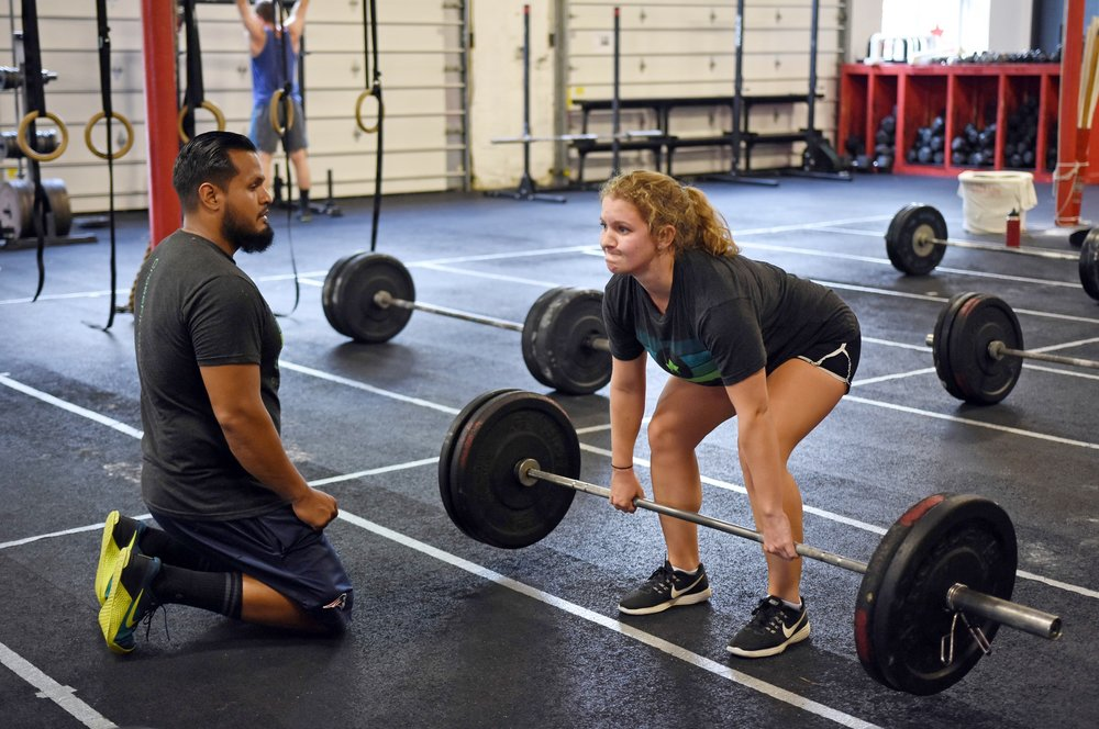 """The deadlift is a test of raw strength: our ability to maintain midline stability (aka keeping our spine neutral versus allowing it to round) while lifting heavy weight is a critical life skill. In fact, the deadlift used to be called the """"healthlift."""" Check out  this article  about the deadlift."""
