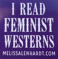 free I read feminist westerns sticker.