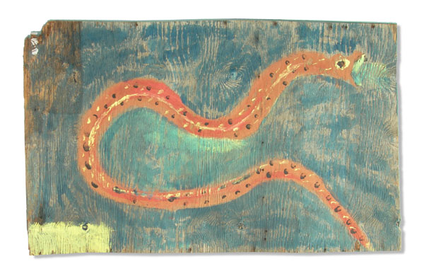 Jimmy Lee Sudduth, Untitled (Snake), 1992, gift of Micki Beth Stiller