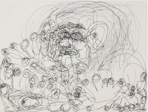 Dwight Mackintosh, Untitled, 1993, Ink on paper, 10.5 x 15 inches, Collection of Robert A. Roth,  Photo: Wm. H. Bengtson