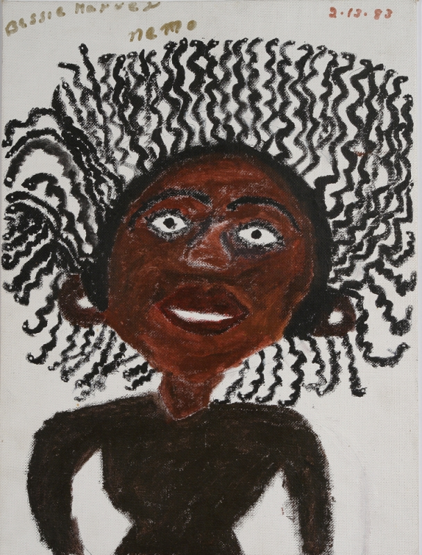 Bessie Harvey (American, 1929-1994).  Nemo , 1983. Acrylic on canvas board, 16 x 12 in. Intuit: The Center for Intuitive and Outsider Art, gift of Judith and Jonathan Stein, 2008.3