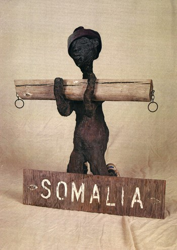 Dr. Charles Smith (American, b. 1940).  Somalia , n.d. Concrete, mixed media, and paint, 35 x 29 x 18 in. Intuit: The Center for Intuitive and Outsider Art, gift of Kohler Foundation, Inc. , 2004.2.09