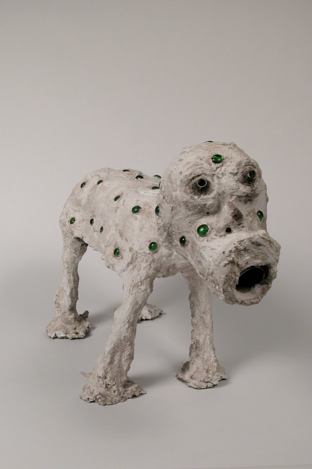 Dr. Charles Smith (American, b. 1940).  Spot , ca. 1986-2002. Concrete, mixed media, and paint, 21 x 7 x 29 in. Intuit: The Center for Intuitive and Outsider Art, gift of Kohler Foundation, Inc.,  2004.2.1