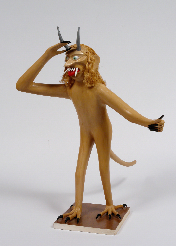 Bruno Sowa (American, twentieth century).  Devil , n.d. Wood, 26 x 8 ½ x 9 in. Intuit: The Center for Intuitive and Outsider Art, gift of Lael and Eugenie Johnson, 2008.9.2