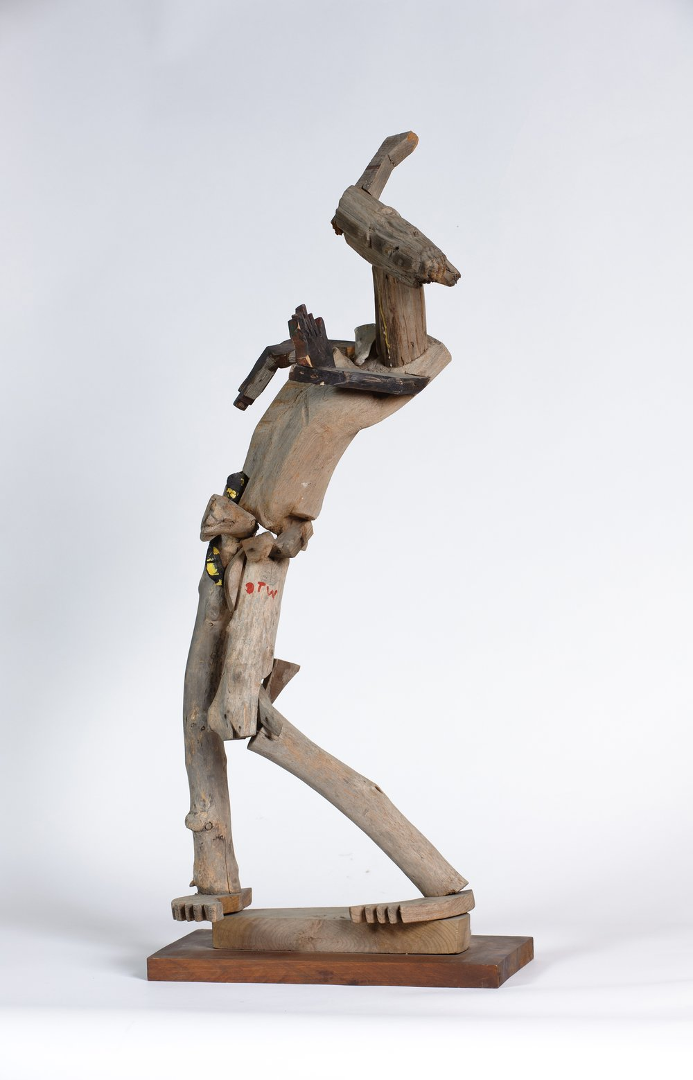 Derek Webster (American, 1934-2009).  Untitled (Figural sculpture) , n.d. Wood, 36 x 17 x 11 in. Intuit: The Center for Intuitive and Outsider Art, gift of George and Sue Viener, 2011.2