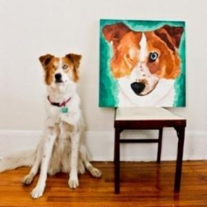 Dog portrait by Katie Romans