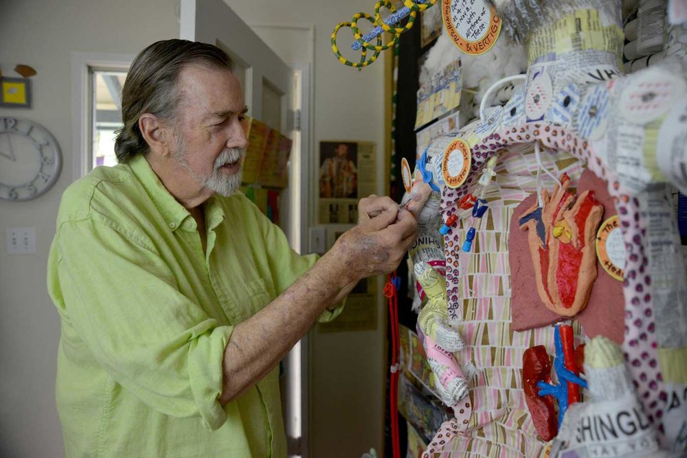 Philip Carey works on  Art in My Veins