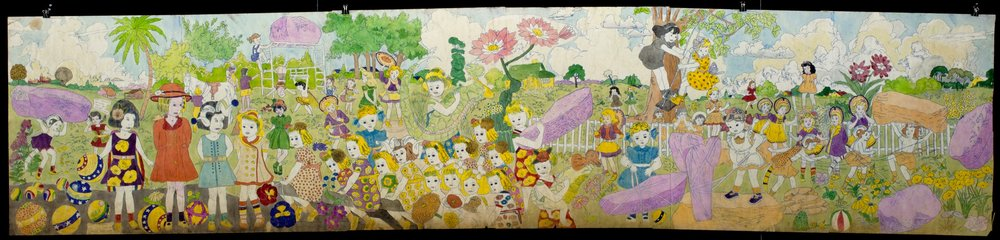 Henry Darger (American, 1892-1973). Mid-20th century. Mixed media on paper. Collection of Robert A. Roth