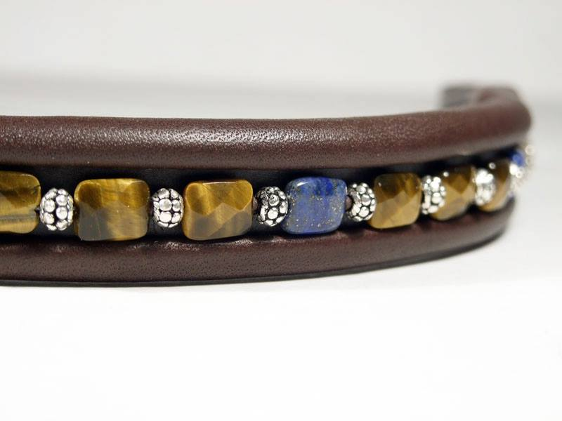 Flat Faceted Tiger Eye & Lapis