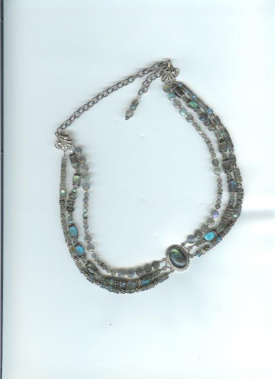 Magnificent Labradorite Triple Strand Necklace