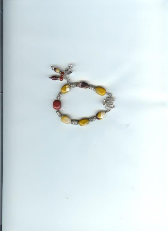 Mookaite Bracelet with Treasure Chest clasp