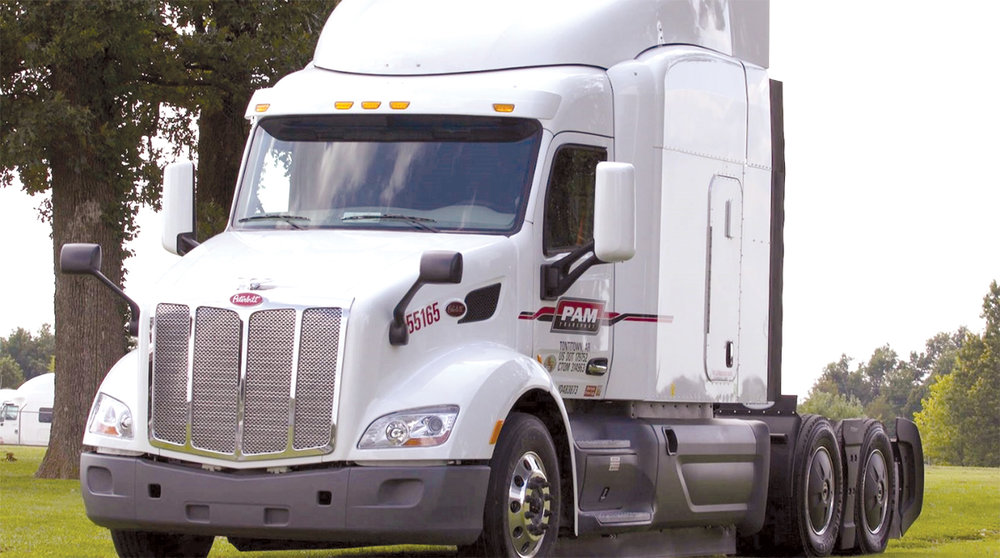 P.A.M. Transportation will be adding 550 new Peterbilt 579 trucks to its fleet with FlowBelow Tractor AeroKits factory installed by Peterbilt. (FlowBelow Aero Inc.)