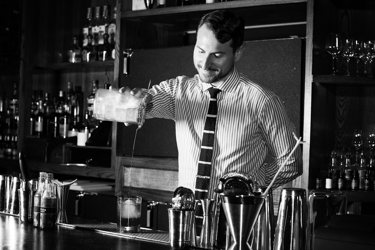 Bartender Joaquin Simo of Pouring Ribbons