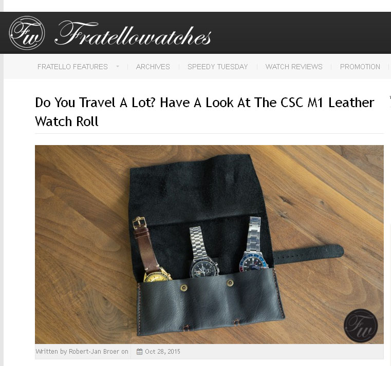 Check out what Fratellowatches think of our watch roll   here .