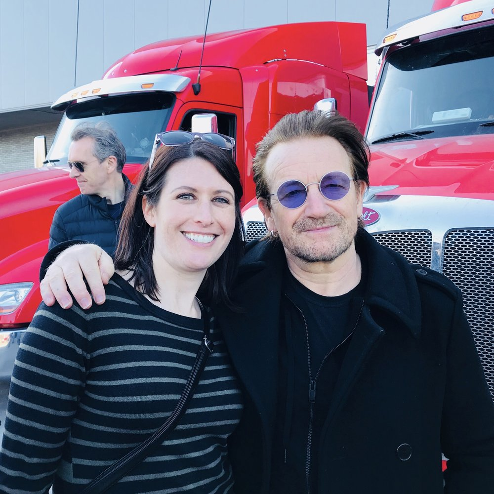 With Bono April 21, 2018 in Laval, QC. Photo Credit: Brian Murphy