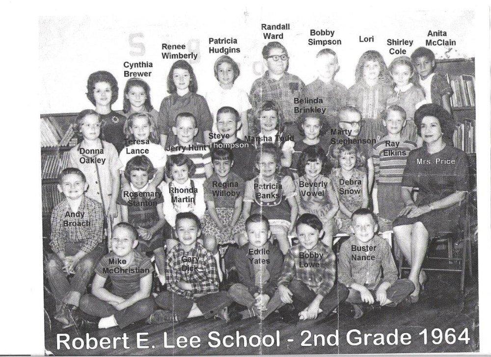 1964: Mrs. Vera Price's 2nd grade class