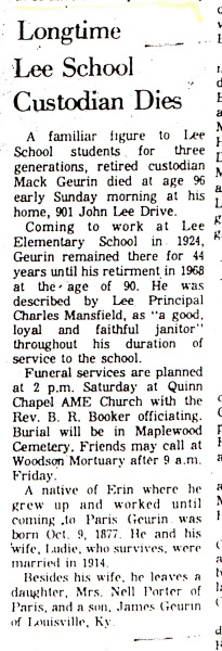 Obituary of Mr. Mack Geurin