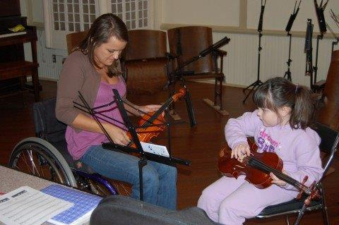 2008: Robin Walker's violin lessons