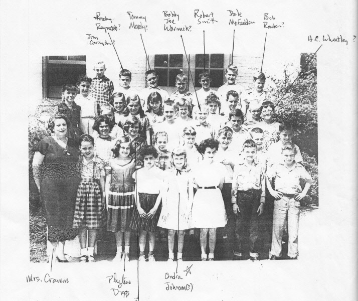 1956-57: Mrs. Cravens 4th Grade