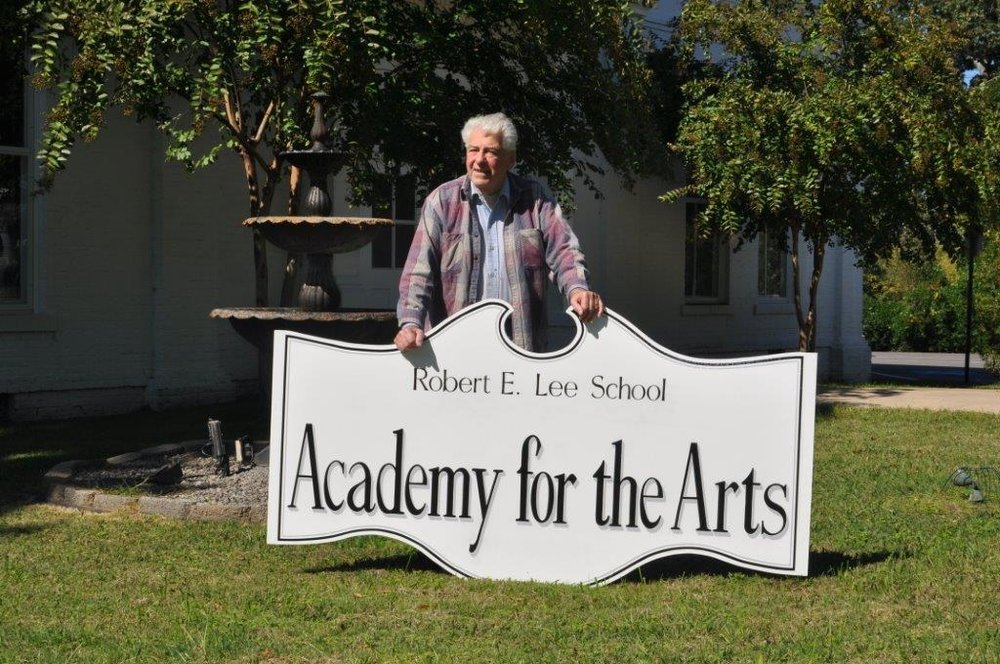 2015: Lee Academy sign