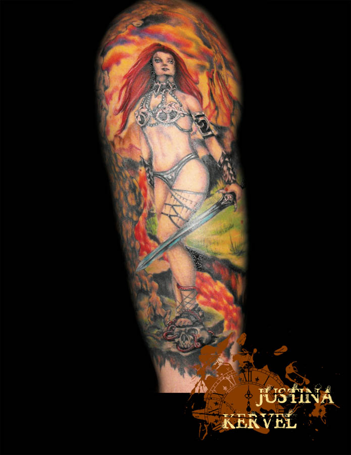 warrior girl lava justina kervel.jpg