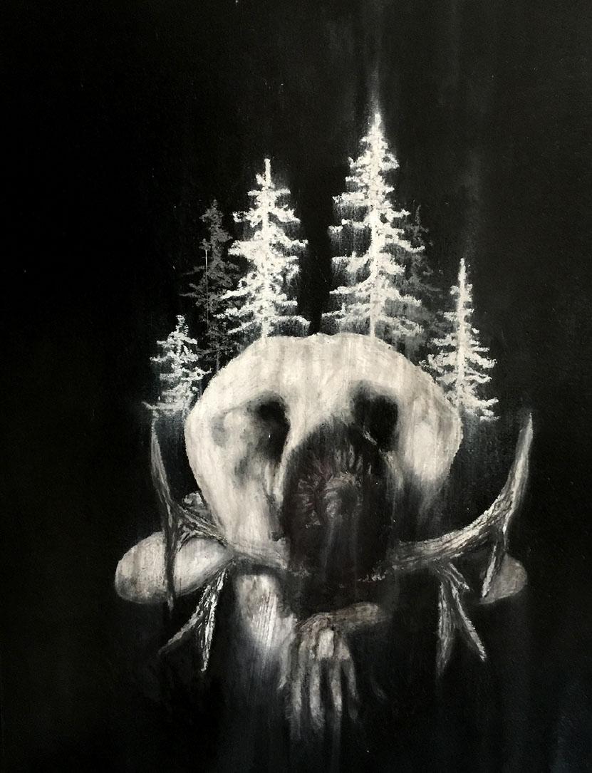 White Huntress - Oil on Wood.jpg