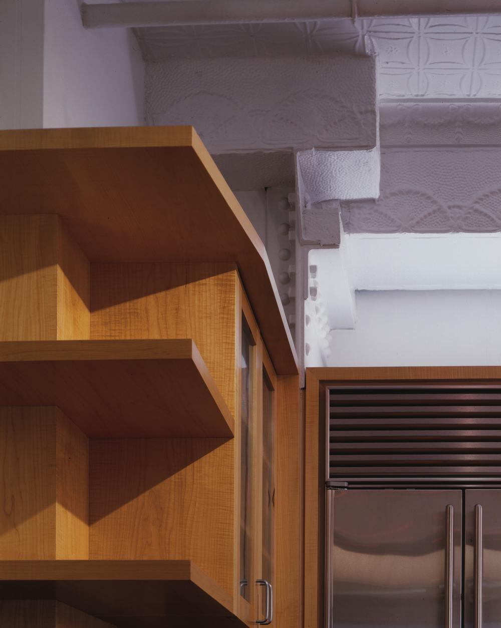 Modern Loft Apartment Renovation | Tribeca Manhattan New York City | Kitchen Built In Custom Millwork Cabinets | RES4