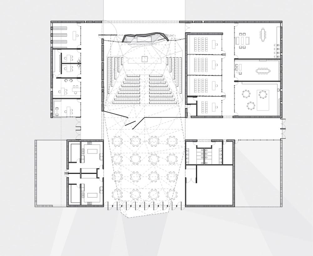 Modern Community Center | Flemington New Jersey FJCC | Auditorium Amphitheater Floor Plan Drawing | RES4