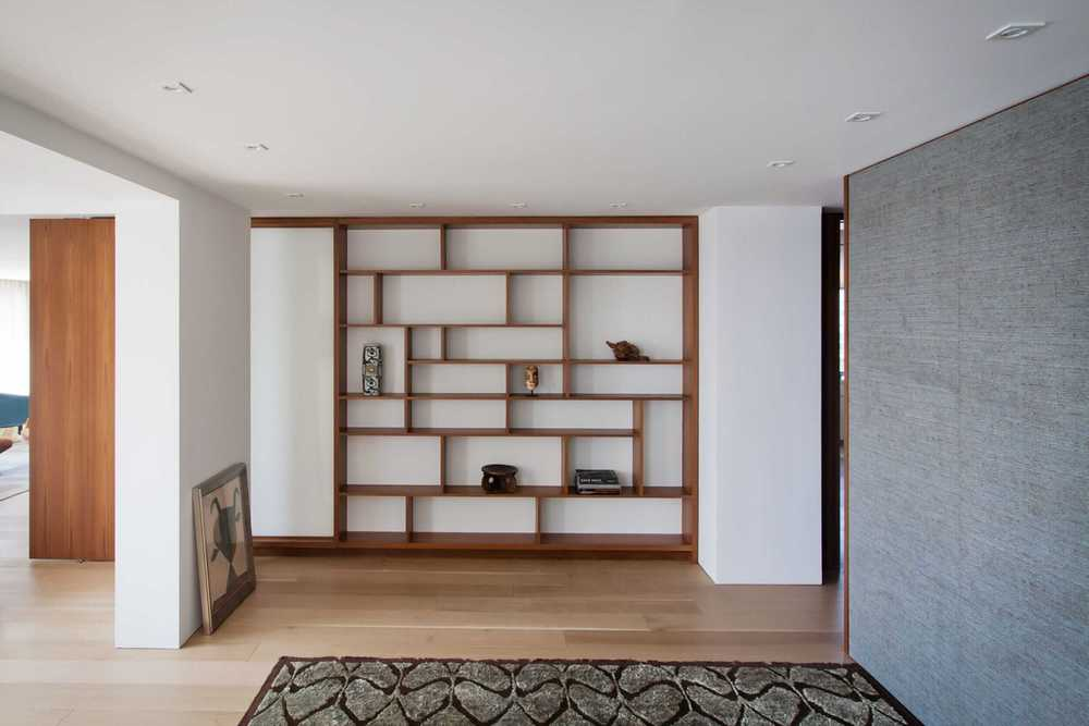 Modern Apartment Renovation | East End Ave New York City | Custom Built In Shelves Abstract Art | RES4