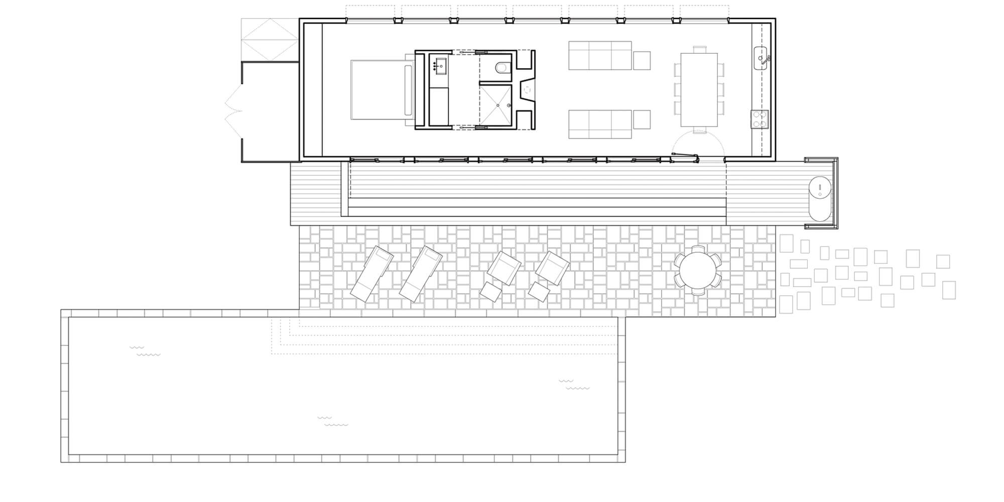RES4 Resolution 4 Architecture – Pool House Floor Plan